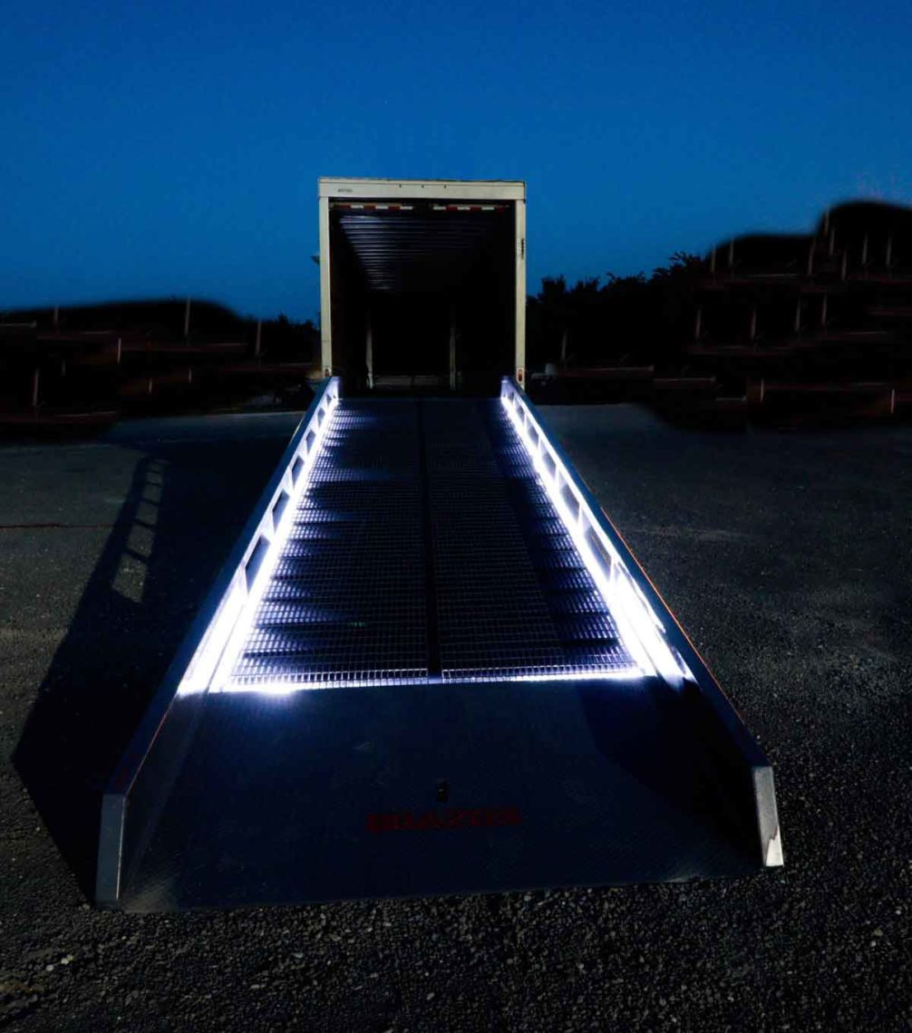 Safety Lighted Ramp by Brazos Manufacturing of Whitney, TX