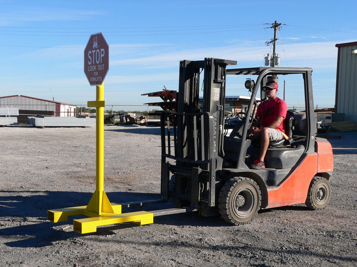 Portable Stop Sign for Forklifts