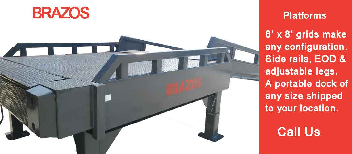 loading ramps and portable steel platforms for remote loading docks