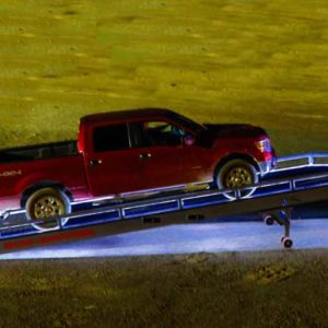 Loading A Ford Pickup On A Brazos Yardramp