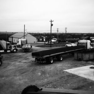 truck traffic on yard with yard ramp
